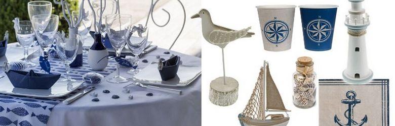 Créez un décor de table de mariage bord de mer.