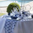 Ambiance bord de mer pour votre décoration de table de mariage ou anniversaire.