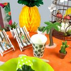 Décoration de table au couleur des iles.