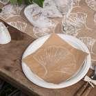 Décoration de table ambiance gingko et nature.