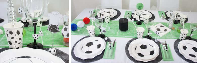 Déco de table de fêtes sur le theme du foot | 1001 deco table