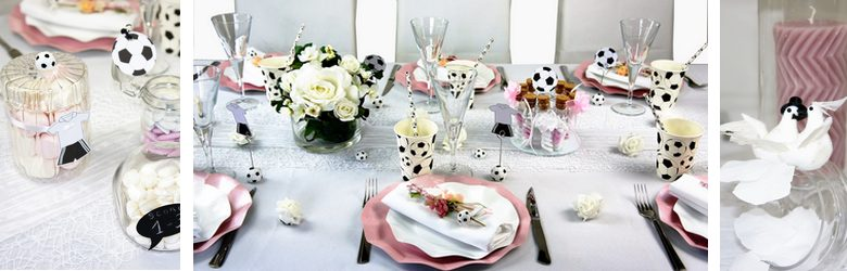decoration de table mariage, anniversaire, theme foot | 1001 deco table