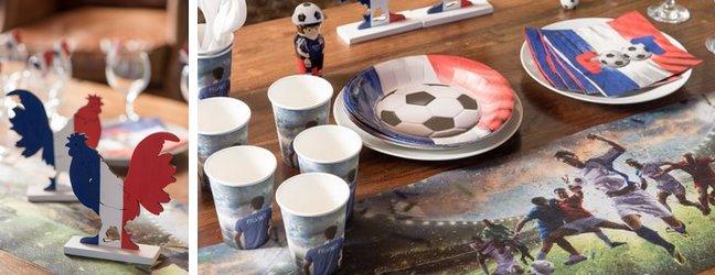 Décoration de table pour une soirée foot | 1001 Déco table