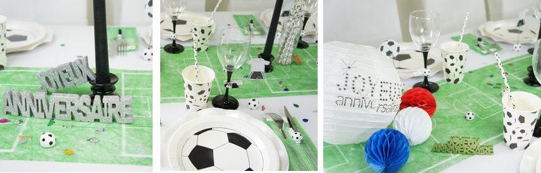 idees de deco de table anniversaire theme foot | 1001 deco table