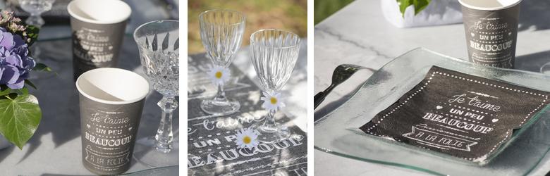 Idée de décoration de table mariage, saint valentin, fête des mères..