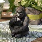 Décor de table feuillage jungle tropicale