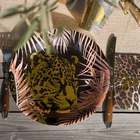 Décoration de table jungle et leopard