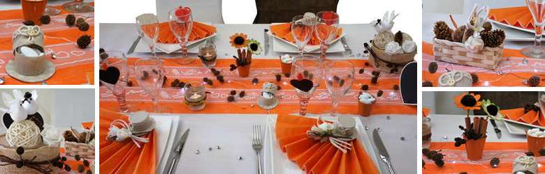idee decoration de table mariage au couleurs de l'automne.