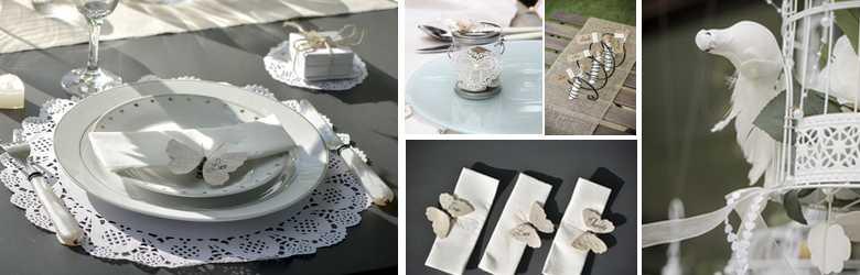 idees de decoration de table de mariage, dentelles, romantique..