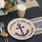 Décoration de table thème bord de mer.