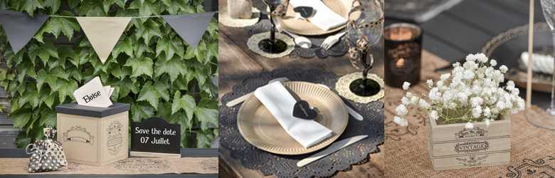 table de mariage vintage kraft | 1001 deco table
