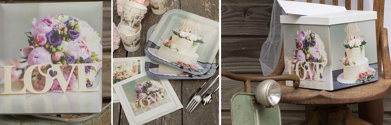 De belles photos imprimées sur ces articles de décoration pour votre table de mariage