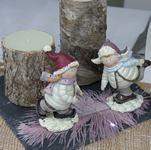 couple de patineurs | figurines noel -1001 deco table