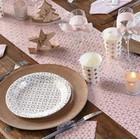 Ambiance cuivre et or pour votre table de fêtes.