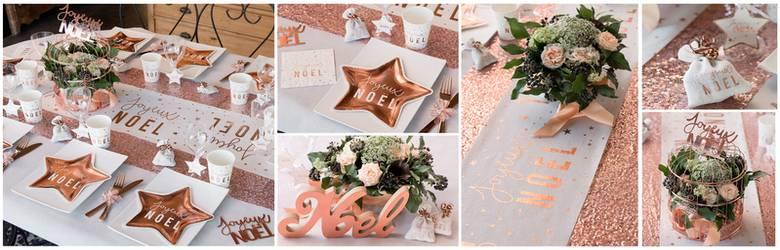 Idées de décoration de tables de noël et fêtes de fin d