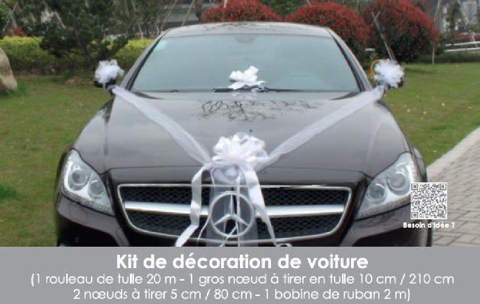 Decoration De Voiture De Mariage.Kit Decoration Voiture Mariage Blanc