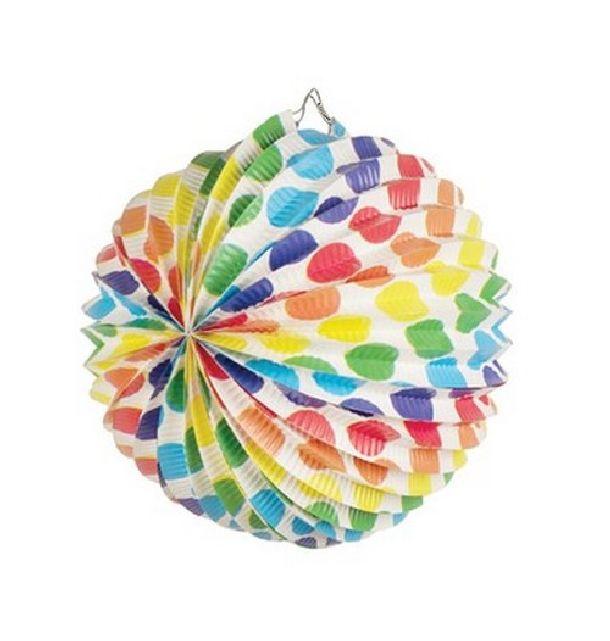 Lampion multicolore pois 1001 d co table - Deco table multicolore ...