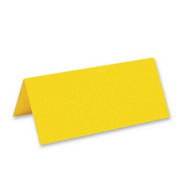 acheter marque place porte nom chevalet jaune vif x25 marques place menu etiquettes 1001 deco. Black Bedroom Furniture Sets. Home Design Ideas