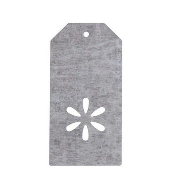 marque place porte nom tiquette rectangle fleur en zinc 1001 d co table. Black Bedroom Furniture Sets. Home Design Ideas