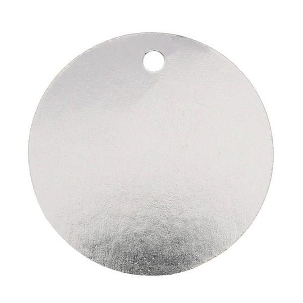 marque place porte nom tiquette ronde argent m talis x10 1001 d co table. Black Bedroom Furniture Sets. Home Design Ideas