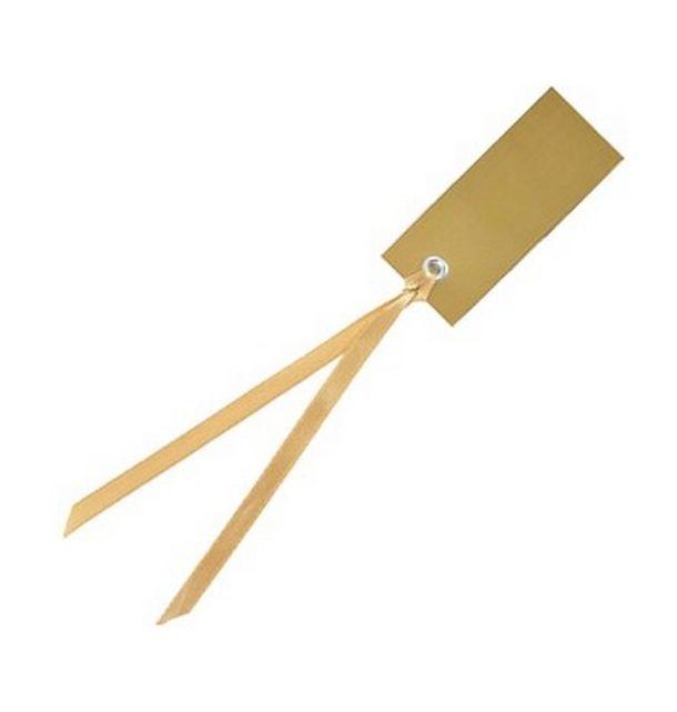 Acheter marque place porte nom tiquette ruban or x12 - Marque nom pour table ...
