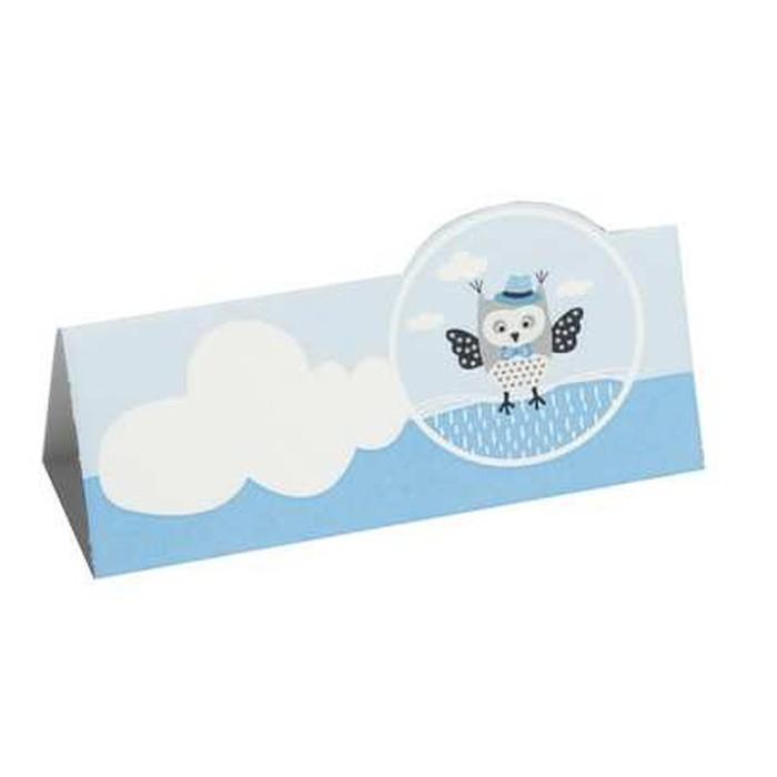Marque place carte de table hibou bleu x10 1001 d co table - Table de mixage avec carte son integree ...