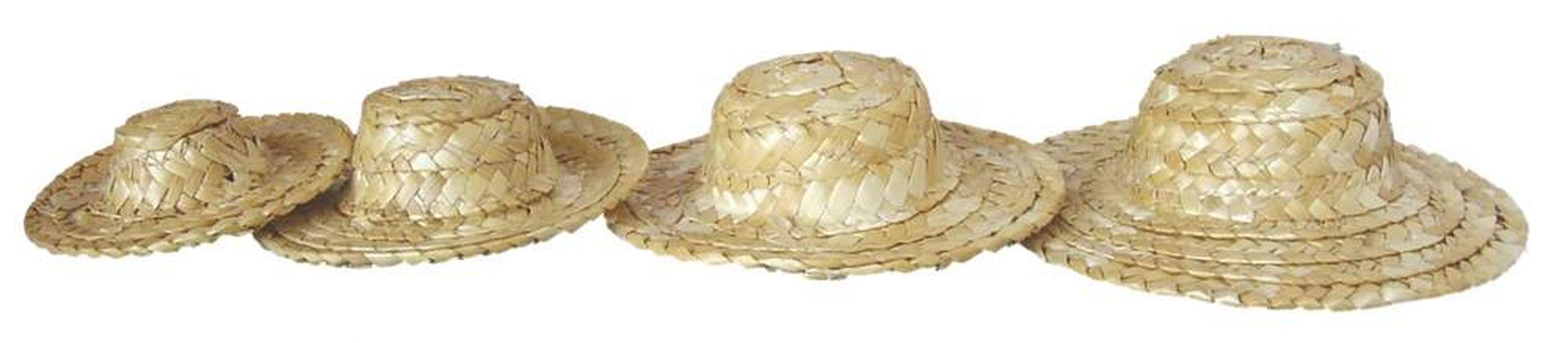 regard détaillé une autre chance Site officiel Mini chapeau de paille plat 7cm