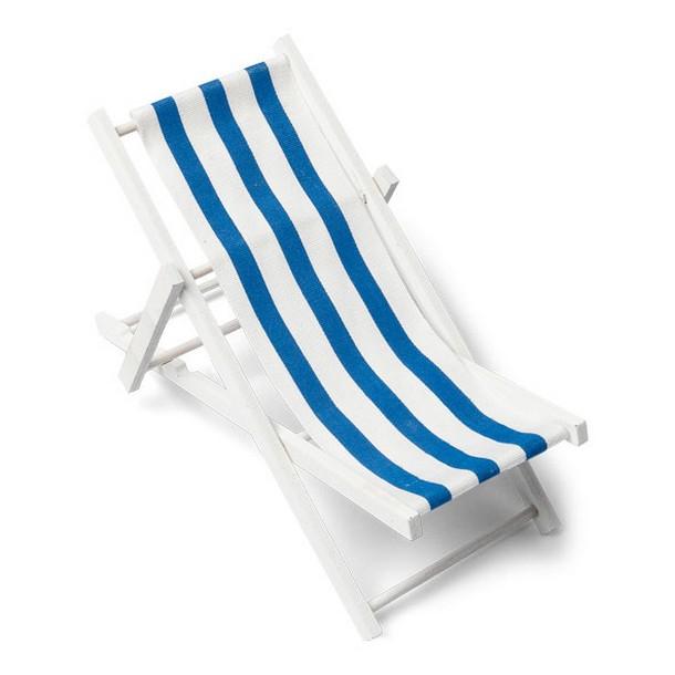 mini transat bois blanc toile ray e marine et blanc. Black Bedroom Furniture Sets. Home Design Ideas