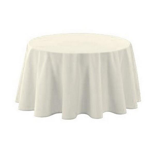 nappe ronde en tissus blanc pas chère