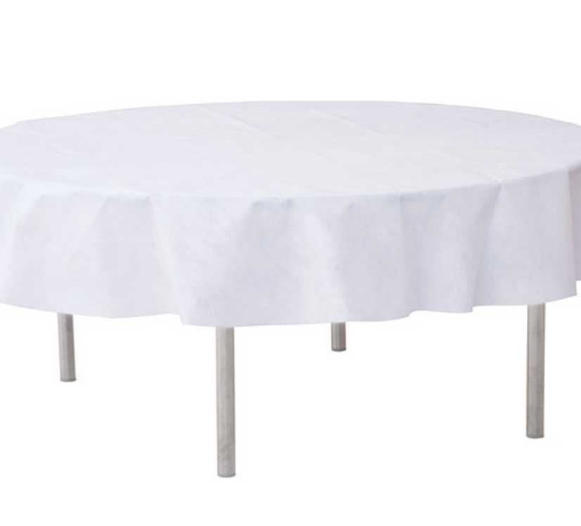 nappe d180cm blanche jetable opaque 1001 deco table. Black Bedroom Furniture Sets. Home Design Ideas