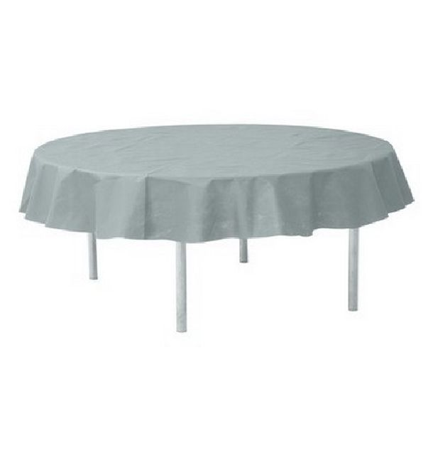 nappe ronde intiss gris clair 240cm 1001 d co table. Black Bedroom Furniture Sets. Home Design Ideas