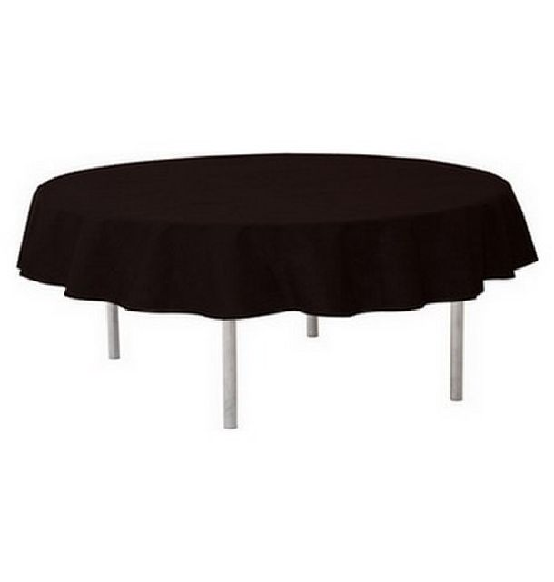 acheter nappe ronde intiss noire 240cm nappes serviettes chemins de table 1001 deco table. Black Bedroom Furniture Sets. Home Design Ideas
