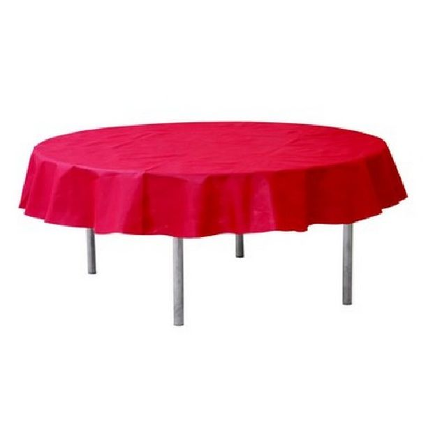 nappe ronde intiss rouge 240cm 1001 d co table. Black Bedroom Furniture Sets. Home Design Ideas