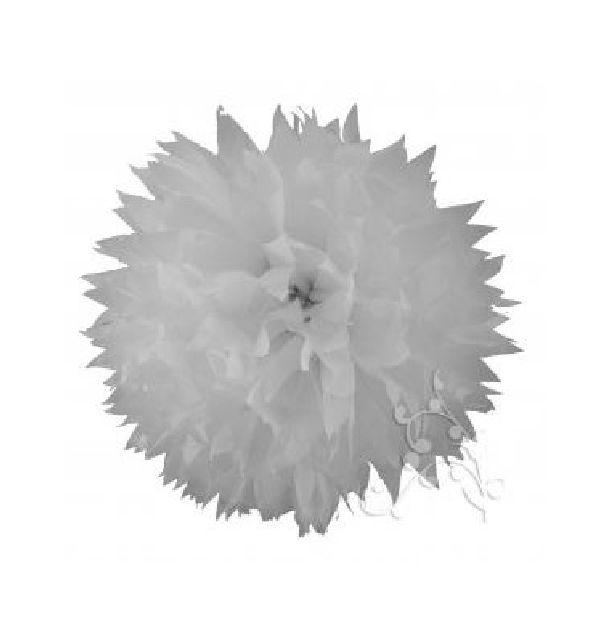 pompon papier de soie fleur 38 cm blanc 1001 d co table. Black Bedroom Furniture Sets. Home Design Ideas