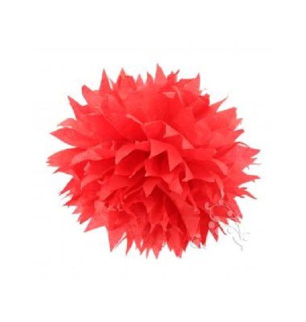 pompon papier de soie fleur 38 cm rouge 1001 d co table. Black Bedroom Furniture Sets. Home Design Ideas