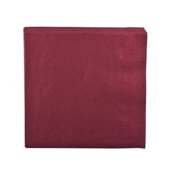 Vente serviette en papier bordeaux nappes serviettes for Deco serviette de table en papier