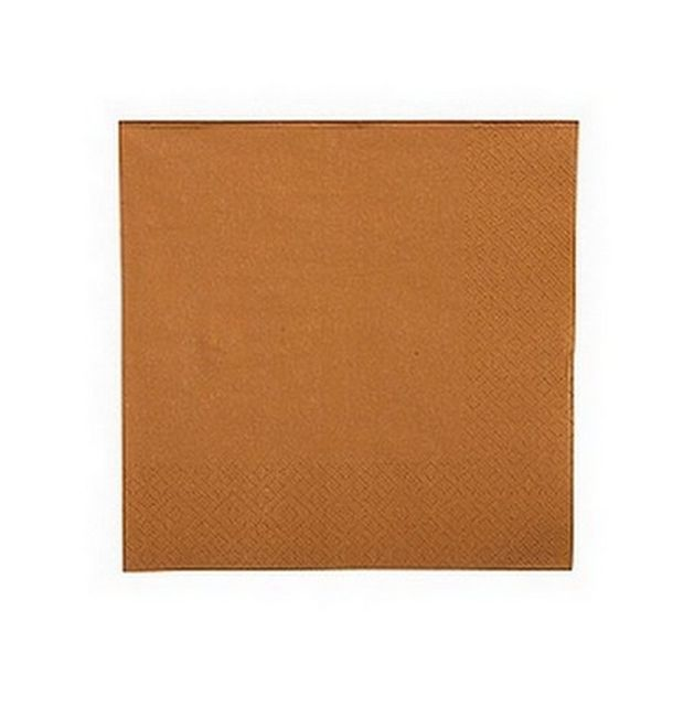 Acheter serviette en papier caramel nappes serviettes for Deco serviette de table en papier