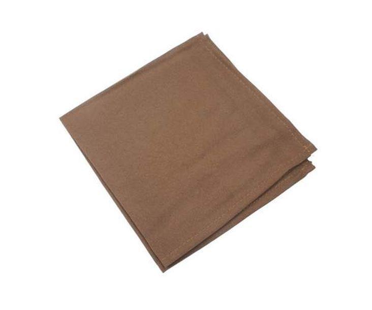 Serviette de table polyester unie chocolat 1001 d co table - Serviette de table tissu ikea ...