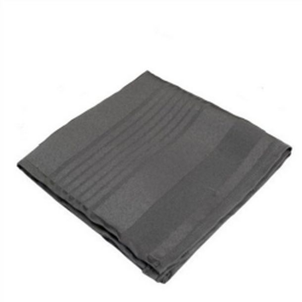 6 serviettes de table polyester gris anthracite ray e ton sur ton 1001 d co table - Chemin de table gris anthracite ...