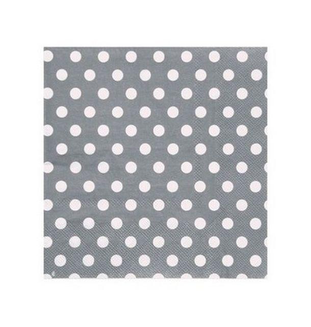serviette en papier grises argent pois en papier 1001 d co table. Black Bedroom Furniture Sets. Home Design Ideas