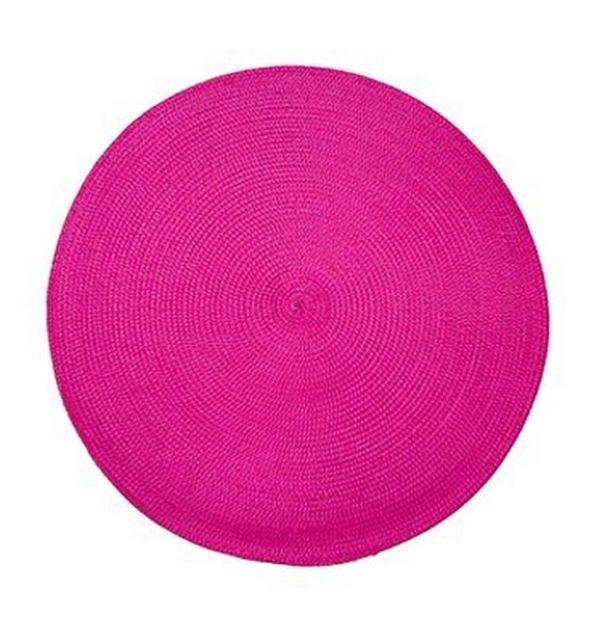 set de table rond tress fuschia 1001 d co table. Black Bedroom Furniture Sets. Home Design Ideas
