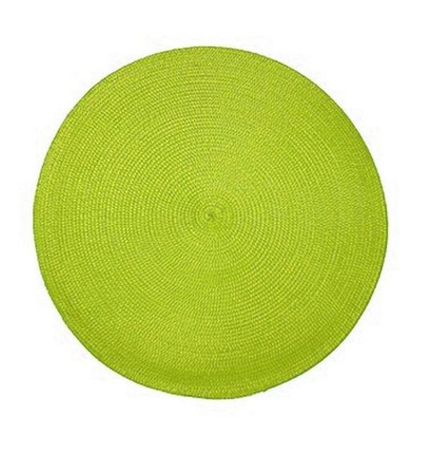 Achat set de table rond tress vert anis nappes for Set de table paille