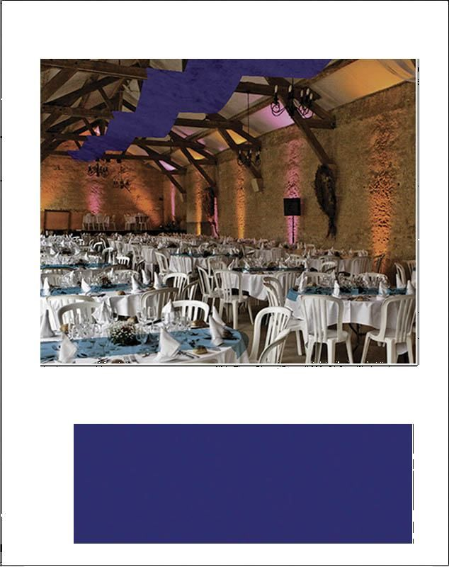 Tenture Mariage Intisse Bleu Roi 80cm X 25metres