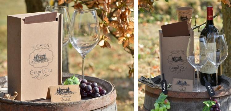 Thème viticole pour cette décoration de table conviviale.