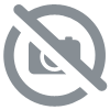 Set de table PVC tressé rond chocolat Lot de 4